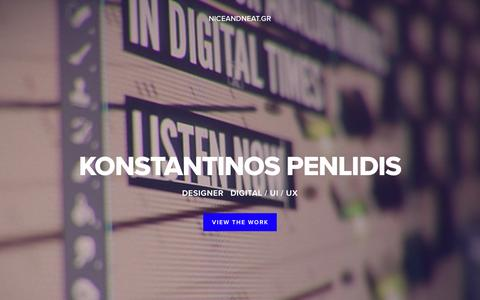 Screenshot of Home Page niceandneat.gr - KONSTANTINOS PENLIDIS - captured March 4, 2016