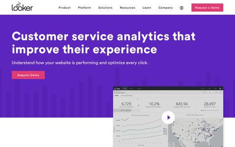 Screenshot of Support Page looker.com - Customer Service & Support Data Analytics Software   Looker - captured Feb. 17, 2020