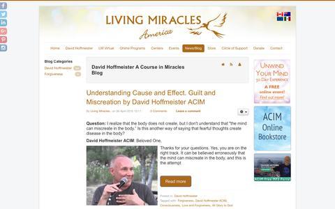 Screenshot of Blog livingmiraclescenter.org - The Miracle of Forgiveness Blog - Living Miracles Center - captured May 27, 2016