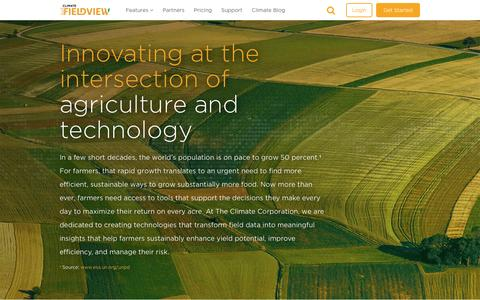 Screenshot of About Page climate.com - Bringing innovation and technology together for farmers - captured April 4, 2017
