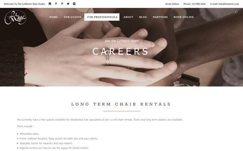 Screenshot of Jobs Page lemetric.com - Careers – The LeMetric Hair Studio - captured July 23, 2017