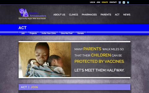 Screenshot of Signup Page vaccineambassadors.org - Join | Vaccine Ambassadors - captured Oct. 27, 2014