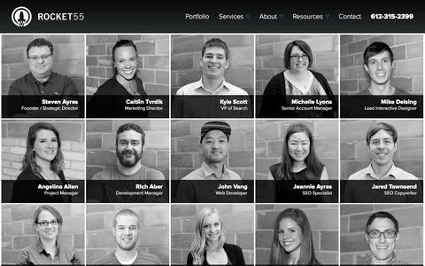 Screenshot of Team Page rocket55.com - Minneapolis Digital Marketing | Digital Agencies in Minneapolis MN - captured Dec. 16, 2015