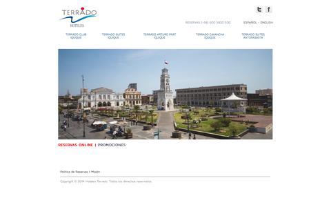Screenshot of Home Page terrado.cl - :: Hoteles Terrado :: - captured Sept. 23, 2014