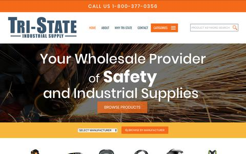 Screenshot of Home Page tri-stateindustrialsupply.com - Tri-State Industrial Supply - captured Oct. 20, 2018