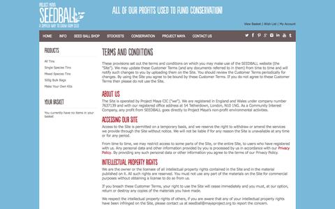 Screenshot of Terms Page seedball.co.uk - SEEDBALLTerms and Conditions - captured Sept. 30, 2014