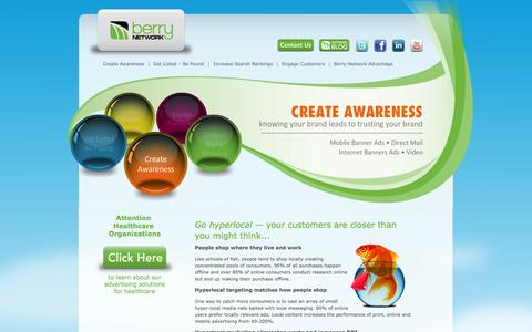 Screenshot of Home Page berrynetwork.com - Berry Network - Advertising Agency - Local Search Marketing - captured Oct. 5, 2014