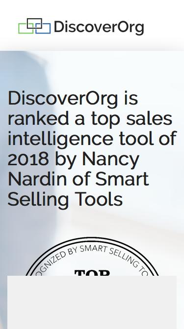Recommended Sales Intelligence Tool - DiscoverOrg