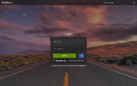 Screenshot of Login Page smugmug.com - Photo Sharing. Your Photos Look Better Here. - captured Oct. 10, 2014