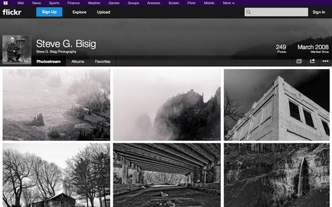 Screenshot of Flickr Page flickr.com - Flickr: Steve G. Bisig Photography's Photostream - captured Oct. 26, 2014