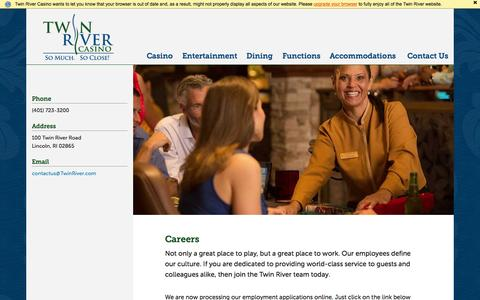 Screenshot of Jobs Page twinriver.com - Careers - Twin River Casino - captured Nov. 5, 2015