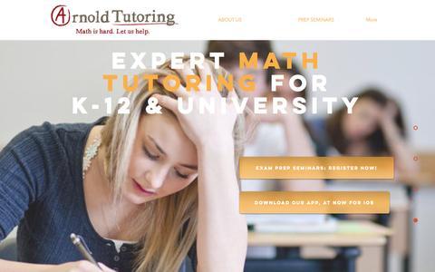 Screenshot of Home Page arnoldtutoring.com - Arnold Tutoring | Home - captured May 30, 2017