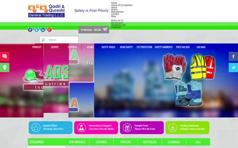 Screenshot of Home Page safety1stsafety.com - Quershi And Qadri - captured Oct. 4, 2014