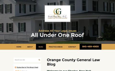 Screenshot of Blog greenwaldlaw.com - Orange County General Law Blog | Gary Greenwald and Partners P.C. - captured Nov. 16, 2016