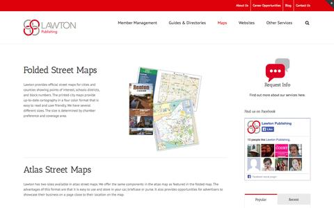 Screenshot of Maps & Directions Page lawton-publishing.com - Printed City Maps - Lawton Publishing - captured Sept. 29, 2014