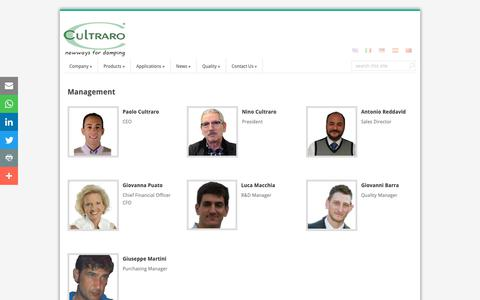 Screenshot of Team Page cultraro.it - Management | Cultraro - captured Sept. 30, 2018