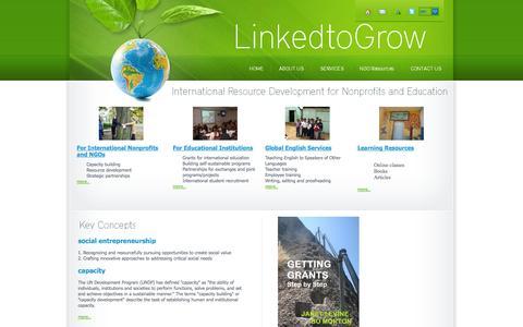 Screenshot of Home Page linked2grow.com - Home - LinkedtoGrow - captured Oct. 1, 2014