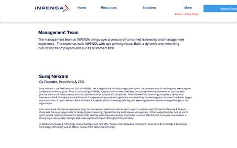 Screenshot of Team Page inpensa.com - INPENSA Management - captured May 27, 2017