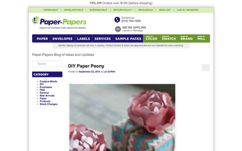 Screenshot of Press Page paper-papers.com - Paper-Papers Blog of Ideas and Updates | Supplier of fine papers to the Business Mind with a Creative Heart - captured Sept. 24, 2014