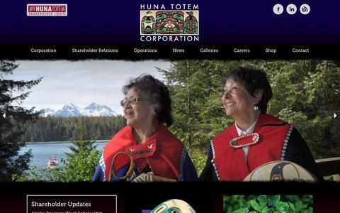 Screenshot of Home Page hunatotem.com - Home - captured Oct. 3, 2014