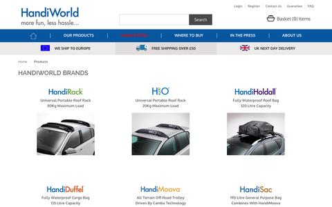 Screenshot of Products Page handiworld.com - Products - captured Jan. 25, 2016