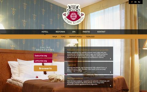 Screenshot of Home Page ekesparre.ee - Hotell « Ekesparre - captured Oct. 2, 2014