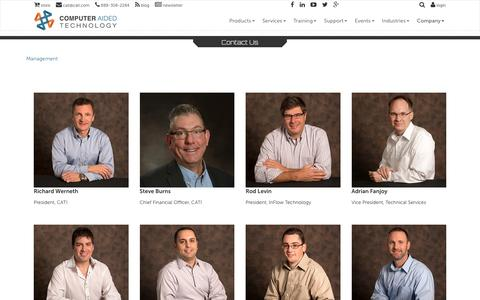 Screenshot of Team Page cati.com - Management - Computer Aided Technology - captured Oct. 20, 2016