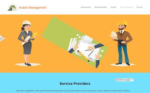 Screenshot of Signup Page avalonweb.com - Avalon Management Service Provider Portal - The Avalon Management Group - captured Oct. 24, 2017