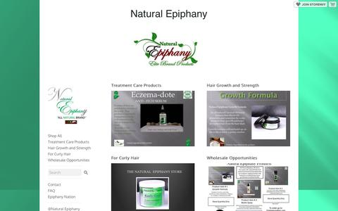 Screenshot of storenvy.com - Home · Natural Epiphany · Online Store Powered by Storenvy - captured Dec. 3, 2016