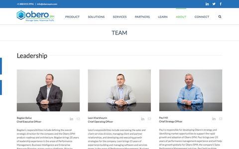 Meet the Team - Obero SPM