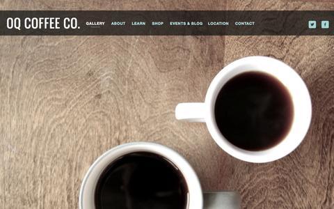 Screenshot of Home Page oqcoffee.com - OQ Coffee Co. - captured Oct. 6, 2014
