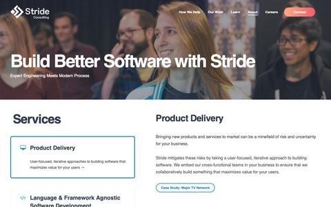 Screenshot of About Page stridenyc.com - About Stride | Our Approach to Agile Consulting | Stride - captured Nov. 18, 2018