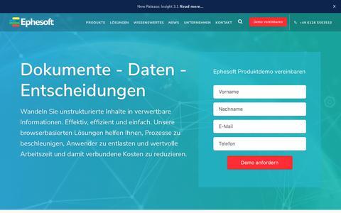 Software für intelligente Dokumentenerfassung und -analyse | Ephesoft