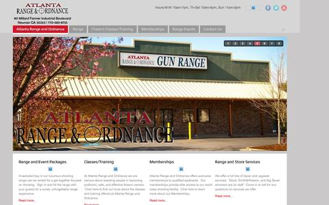 Screenshot of Contact Page atlantarangeandordnance.com - Atlanta Range and Ordnance - captured Feb. 6, 2016