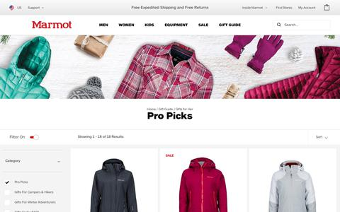 Pro Picks | Marmot.com
