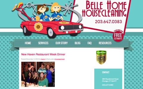 Screenshot of Blog bellehome.net - BLOG - Belle Home Housecleaning - captured Oct. 5, 2014