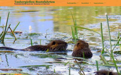 Screenshot of Home Page freiburg-taubergiessen.de - Taubergießen-Bootsfahrten KLAUS Koßmann - captured Sept. 7, 2015
