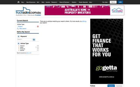 Screenshot of Products Page trucksales.com.au - Trucksales - Reviews, News & Advice - captured Jan. 18, 2016