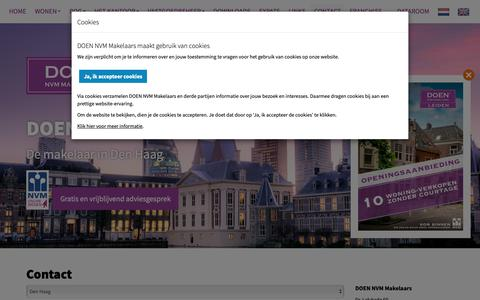 Screenshot of Contact Page doenmakelaars.com - Contact opnemen - captured Oct. 7, 2018