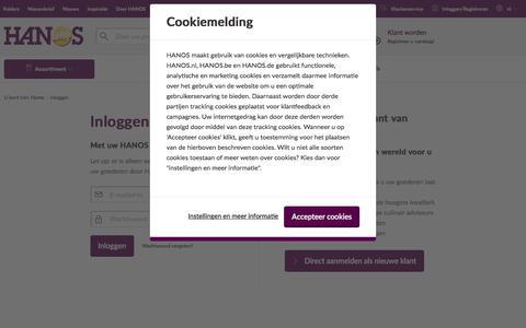 Screenshot of Login Page hanos.nl - Inloggen | HANOS Horeca Groothandel - captured Sept. 25, 2018