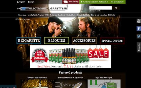 Screenshot of Home Page electronic-cigarette.ie - Electronic Cigarette Ireland | Dublin | Cork | E Cig Shop Online! - captured Feb. 2, 2016
