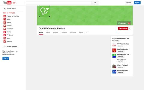 Screenshot of YouTube Page youtube.com - OUCTV Orlando, Florida  - YouTube - captured Oct. 26, 2014