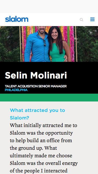 Screenshot of Team Page  slalom.com - Selin Molinari | Slalom