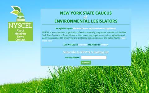 Screenshot of Home Page nyscel.com - Home - New York State Caucus of Environmental Legislators - captured Oct. 13, 2015