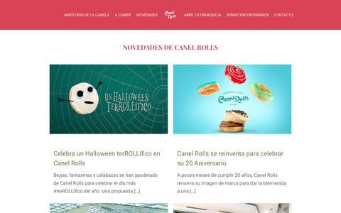 Screenshot of Blog canelrolls.com - Novedades de Canel Rolls - Canel Rolls - captured Nov. 4, 2018