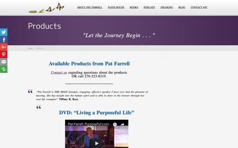 Screenshot of Products Page patfarrellcoach.com - Products | Pat Farrell - captured Sept. 27, 2018
