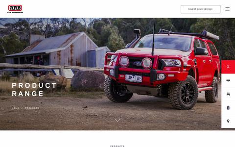 Screenshot of Products Page arb.com.au - ARB 4×4 Accessories | Four Wheel Drive Products - ARB 4x4 Accessories - captured Sept. 23, 2018