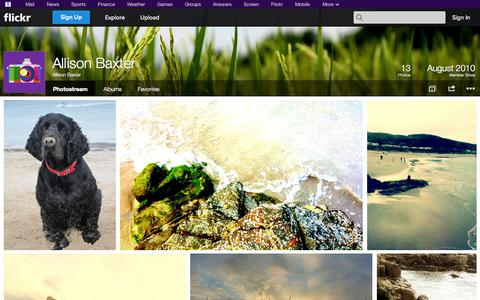 Screenshot of Flickr Page flickr.com - Flickr: Allison Baxter's Photostream - captured Oct. 23, 2014