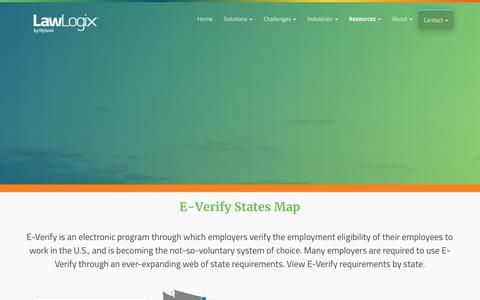 E-Verify States Map | LawLogix.com