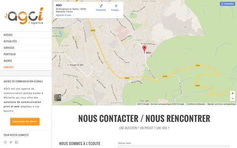 Screenshot of Contact Page agci.fr - Contacter l'agence AGCI à Marseille - captured Feb. 4, 2016